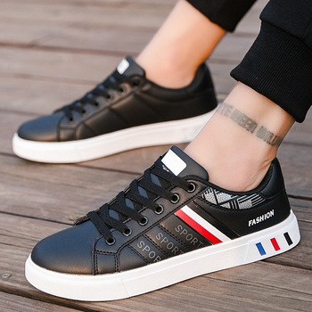 Men Casual Shoes 2020 Lace-up Men Leather Flat Shoes Low Top Sneakers Breathable Male Shoes Fashion Sneskers Tenis Masculino