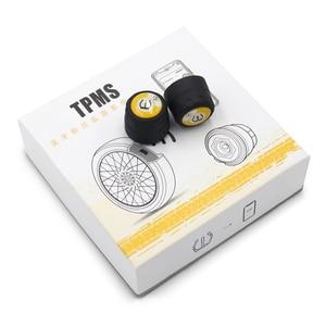 Image 5 - Zeepin V100B TPMS Bluetooth Tire Pressure Monitoring System APP Mode 2PCS External Sensors For Motorcycles
