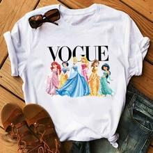 NEW Vogue Harajuku Ullzang T Shirt Women Funny Cartoon Princess T-shirt 90s Graphic Aesthetic