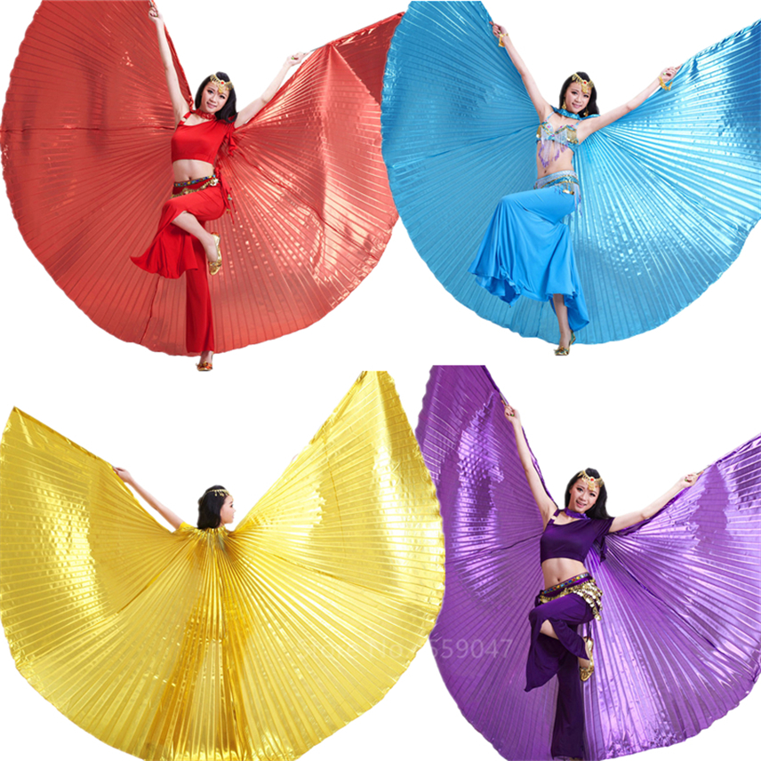 Belly <font><b>Isis</b></font> Dance Butterfly <font><b>Wings</b></font> Costumes for <font><b>Women</b></font> Adult Carnival Party Gypsy Stage Performance Practice Wear Golden Skirt image