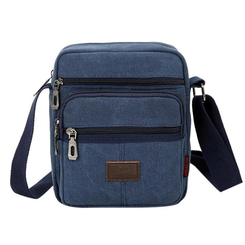 Men/'s Crossbody Shoulder Bag Canvas Zipper Travel Purse Messenger Pack Satchel