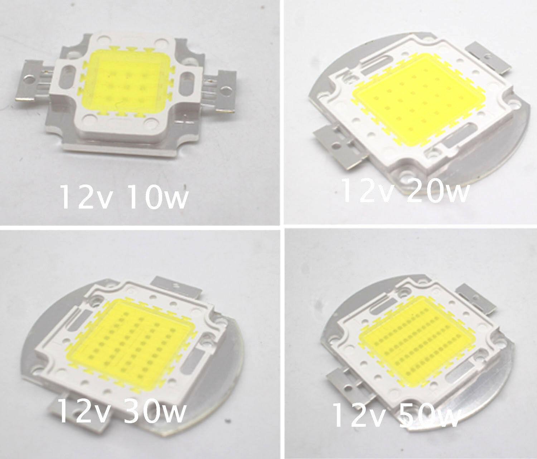 12V - 15V 10W 20W 30W 50W высокая мощность интегрированный COB светодиодный диодный SMD белый светильник DIY прожектор светильник