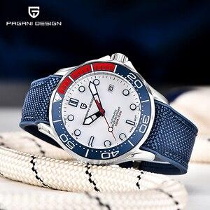 PAGANI DESIGN Fashion casual men automatic watches nylon silicone strap men mechanical wristwatches Japan NH35A Waterproof 100M