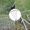 12pcs Tent Stakes Garden Staples Heavy Duty  Metal Tent Pegs Garden Edging Fence Hooks for Outdoor Garden Christmas Decoration
