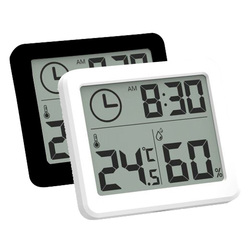 Ultra-thin Digital Temperature Humidity Table Clock Automatic Monitoring Large LCD Screen Multifunction Electronic Desk Clock