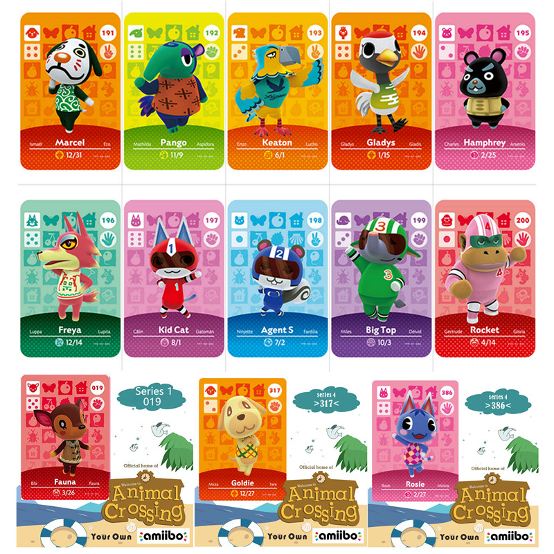 50pcs/lot Custom Nintendo Animal Collection Will Animal Crossing <font><b>Amiibo</b></font> <font><b>Card</b></font> Circle <font><b>Card</b></font> Small <font><b>Amiibo</b></font> Game for NS Switch image