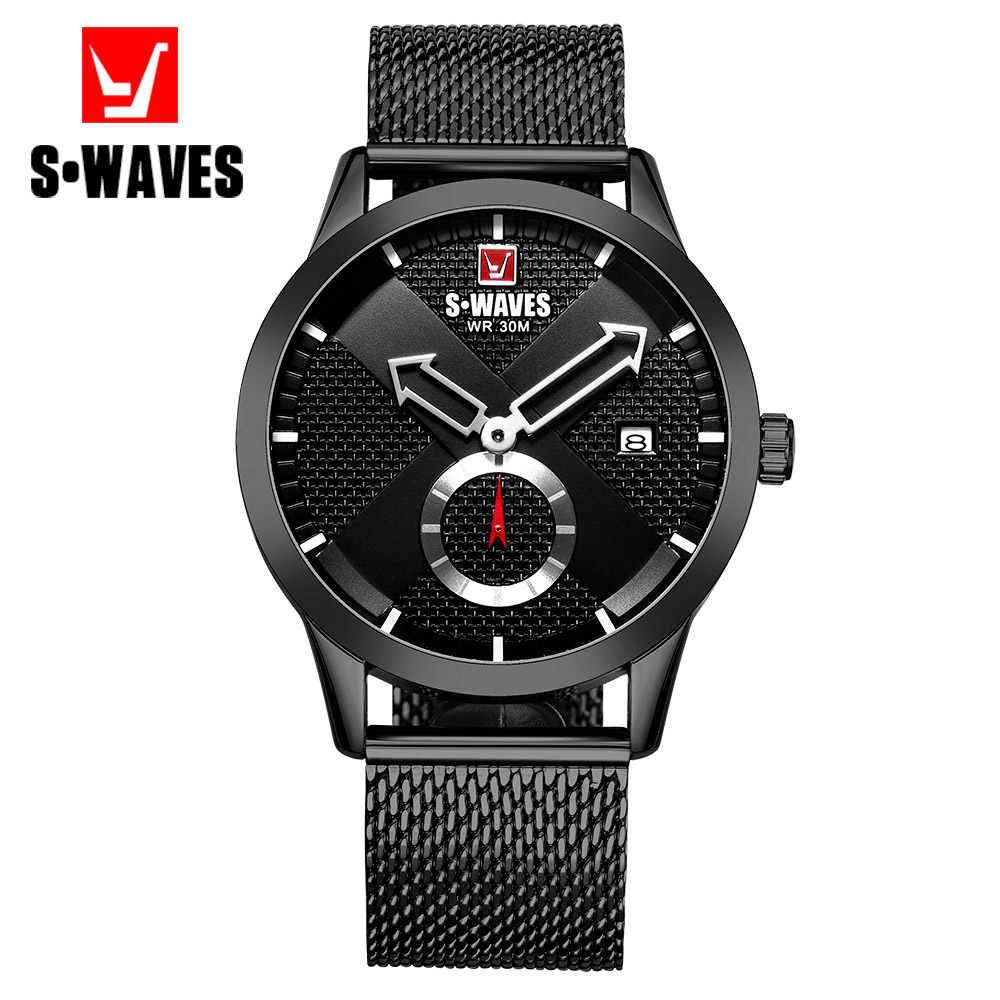 Casual Relogio Masculino Waterproof Date Unique Luxury Watch Men Stainless Steel Quartz Mens Watches Dropshipping SWAVES Brand