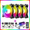 COOLMOON Magic Moon 120mm RGB Case Cooling Fan Colorful Lighting Heat Sink Large Cooler Radiator 12cm Computer Case Fan Set