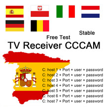 TV Receiver AV cable ccams lines for 12M 24M TV Receiver GTmedia V8 Nova V7S V9 Freesat V7 Ccam free test