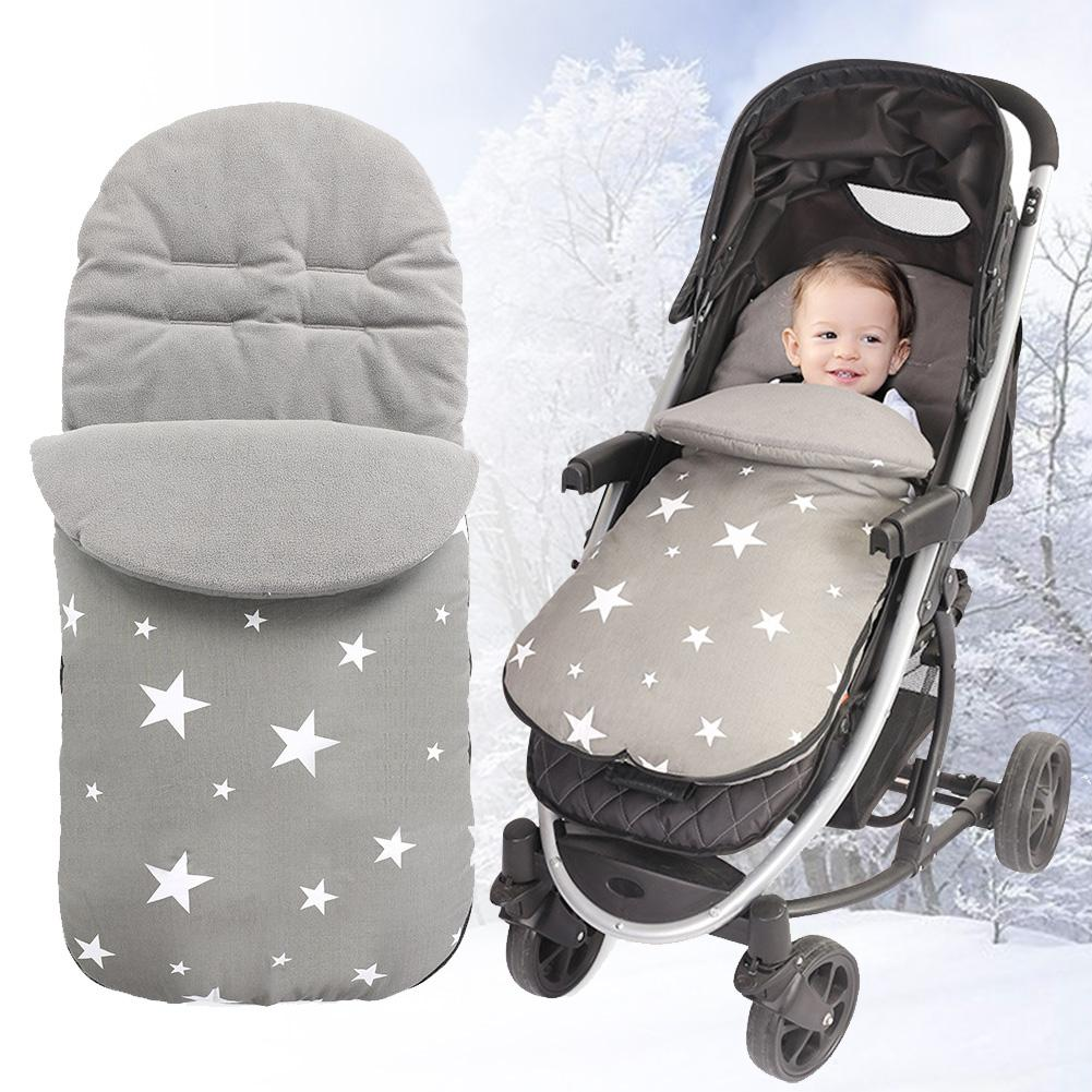 Universal Baby Sleeping Bag Winter Warm Footmuff Thickened Fleece-lined Sleepsack Windproof Stroller Cushion Infant Swaddle Wrap