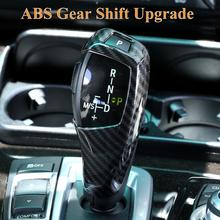 ABS Carbon Fiber Style Car Gear Shift Cover Sticker Fit For BMW E60 E70 X5 X6 Car Styling auto Accessories drop shipping car styling carbon fiber auto car duckbill spoiler for bmw e60 2004 2010