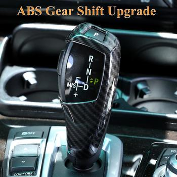 ABS Carbon Fiber Style Car Gear Shift Cover Sticker Fit For BMW E60 E70 X5 X6 Car Styling auto Accessories drop shipping image