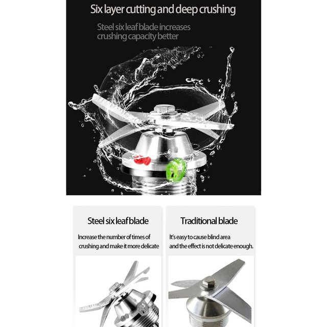 2.0L Digital Touchscreen Fruit Blender Mixer Preset Automatic Program Juicer Food Processor Ice Crusher Smoothie Machine 5