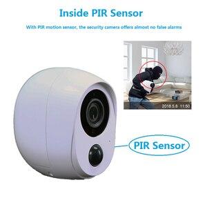 Image 3 - Wouwon 100% sans fil inclus batterie IP caméra extérieure sans fil résistant aux intempéries sécurité WiFi caméra CCTV alarme photo iCSee APP