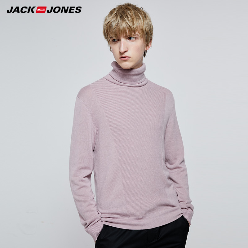 Jack Jones Autumn And Winter High-neck Woolen Knit Sweater |219324525