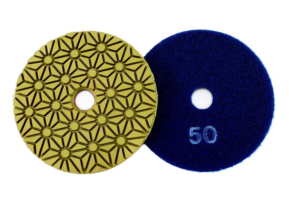 Diamond polishing pads 100mm flexible wet concrete floor polishing pad for granite marble Grinding Disc - 5PCS 4inch