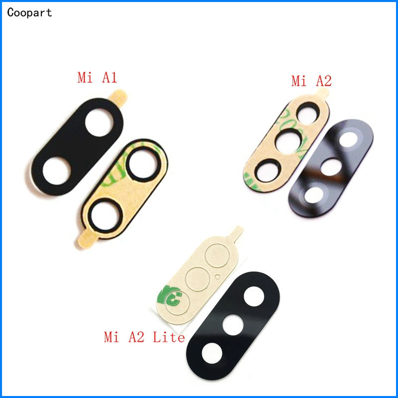 2pcs/lot Coopart New Back Rear Camera Lens Glass Replacement For Xiaomi Mi A1 A2/ A2 Lite With Sticker Top Quality
