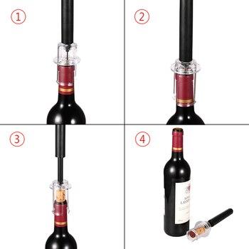 Air Pump Wine Bottle Opener Air Pressure Vacuum Red Wine Stopper Beer Lid Opener Corkscrew Corks Out Tool Stainless Steel Pin
