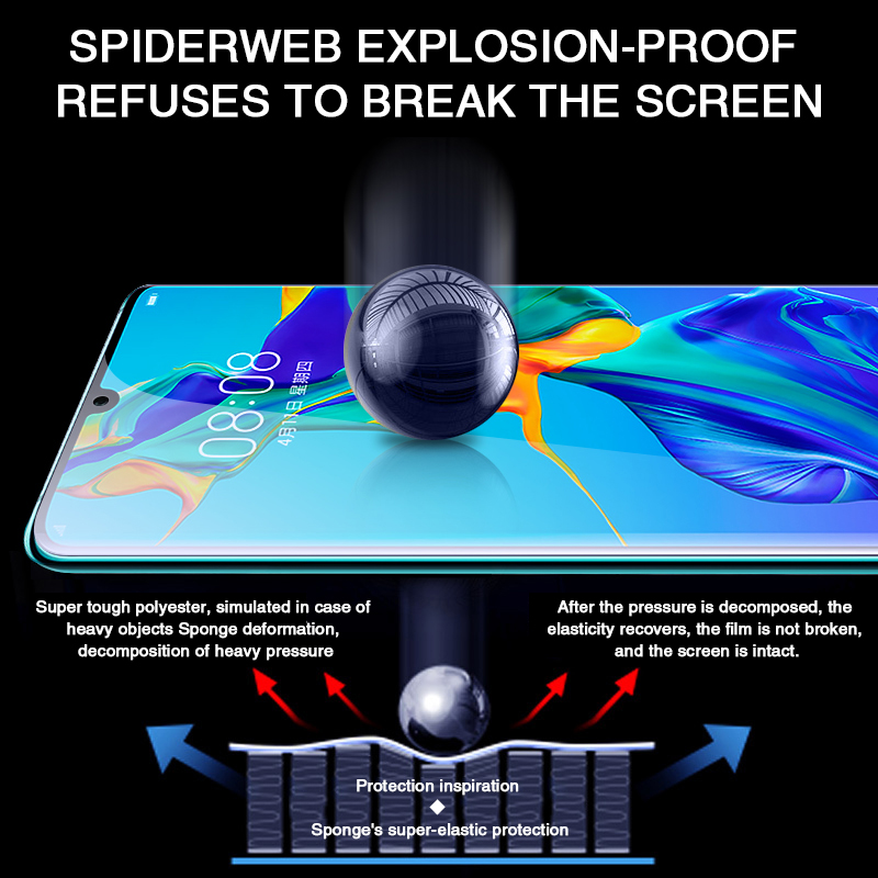 Image 3 - 45D Screen Protector Hydrogel Film For Huawei P30 P20 Pro Honor 10 Protective Film For Huawei Mate 20 lite 10 30 Pro 5G Not Glas-in Phone Screen Protectors from Cellphones & Telecommunications