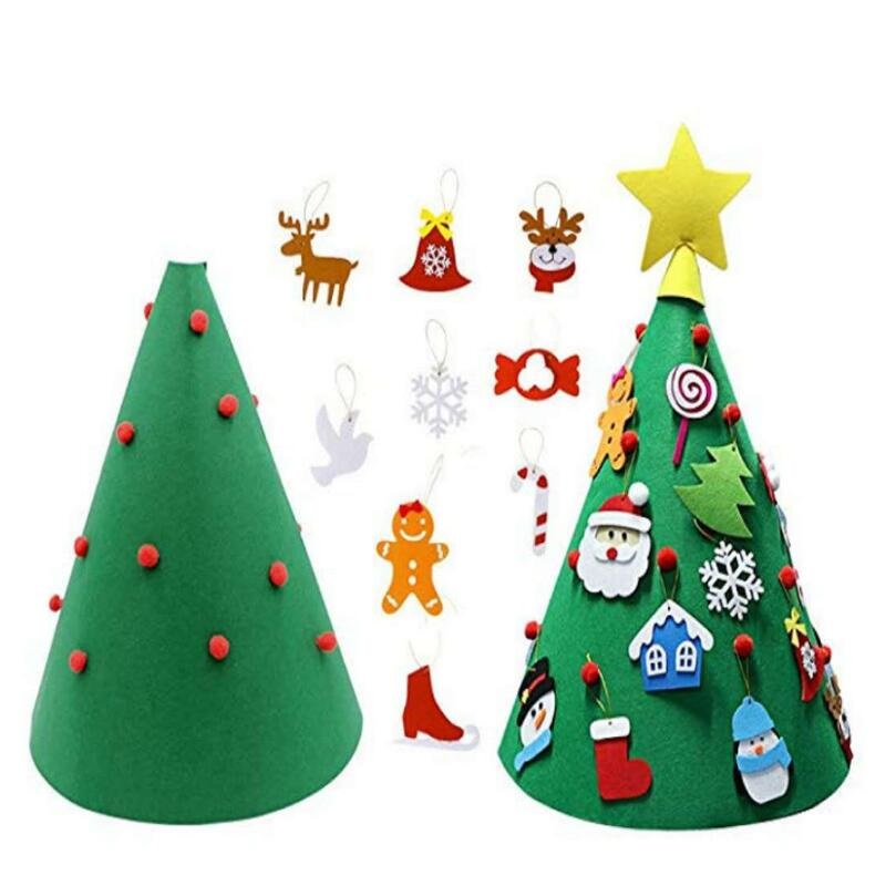 3D Christmas Tree Home Room Decoration Toy Children DIY Felt Toys Kids Party Game Christmas New Year Gifts