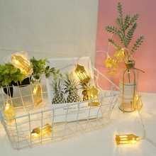Led-String-Lights Ramadan Party-Decoration House-Shape Gift Eid Happy Mubarak Islam Lamic