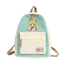 купить Women Backpack Sailor Moon Crystal For Teenagers Anime Girls School Bags School Backpacks Kids Bag по цене 1673.87 рублей