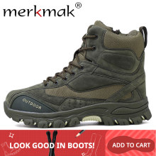 Merkmak 2019 Nieuwe Winter Mannen Laarzen Enkel Rubber Militaire Combat Laarzen Mannen Sneakers Casual Schoenen Outdoor Arbeidsveiligheid Laarzen Man(China)