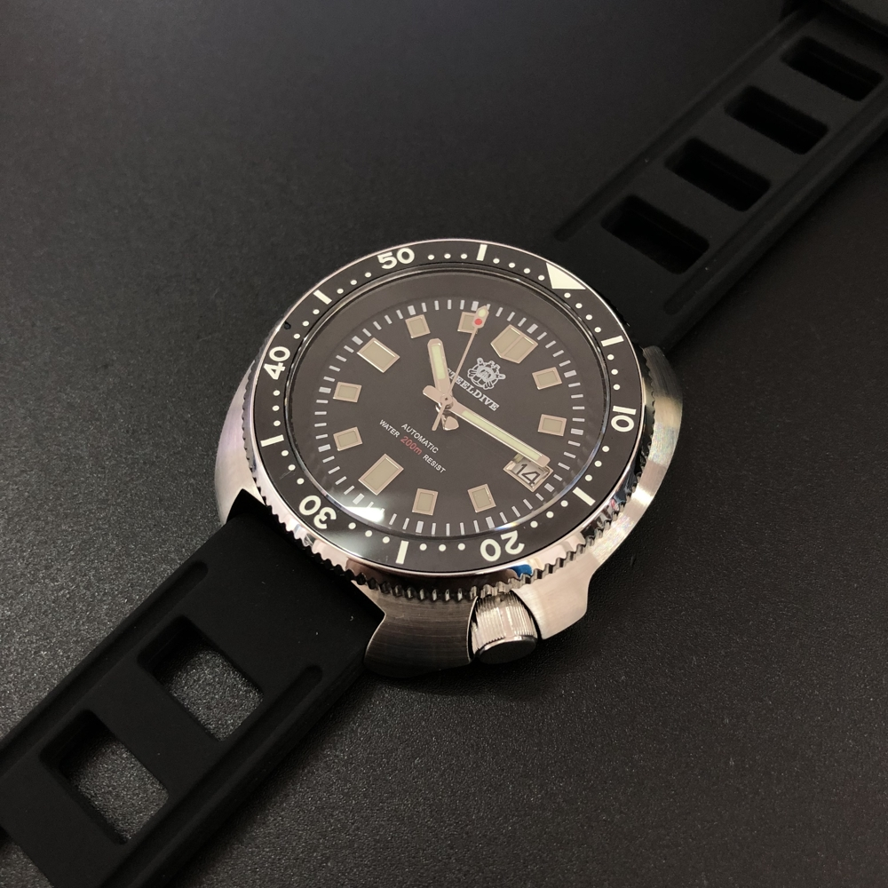 Steeldive Automatic Watch Stainless Steel diving Watch 200m Water Resistant 12 Luminous Bezel Relojes Hombre 2019(China)
