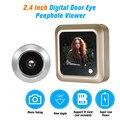 2,4 дюймов цифровой видео глазок дверной глазок ЖК-камера безопасности для двери домашняя камера безопасности комплект просмотра посетител...