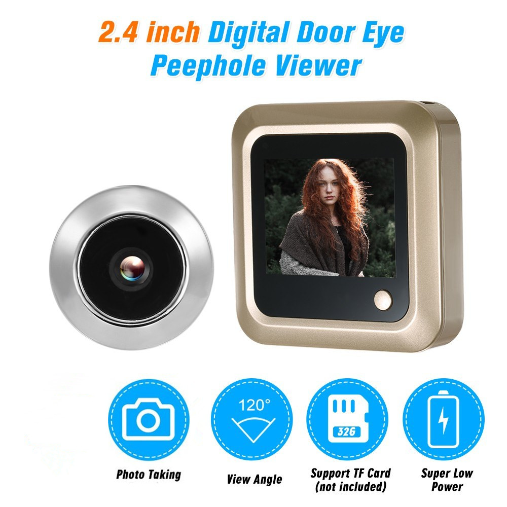 2.4 Inch Digital Video Eyes Peephole Door Viewer LCD Security Camera For Door Home Security Cam Kit Visitor View