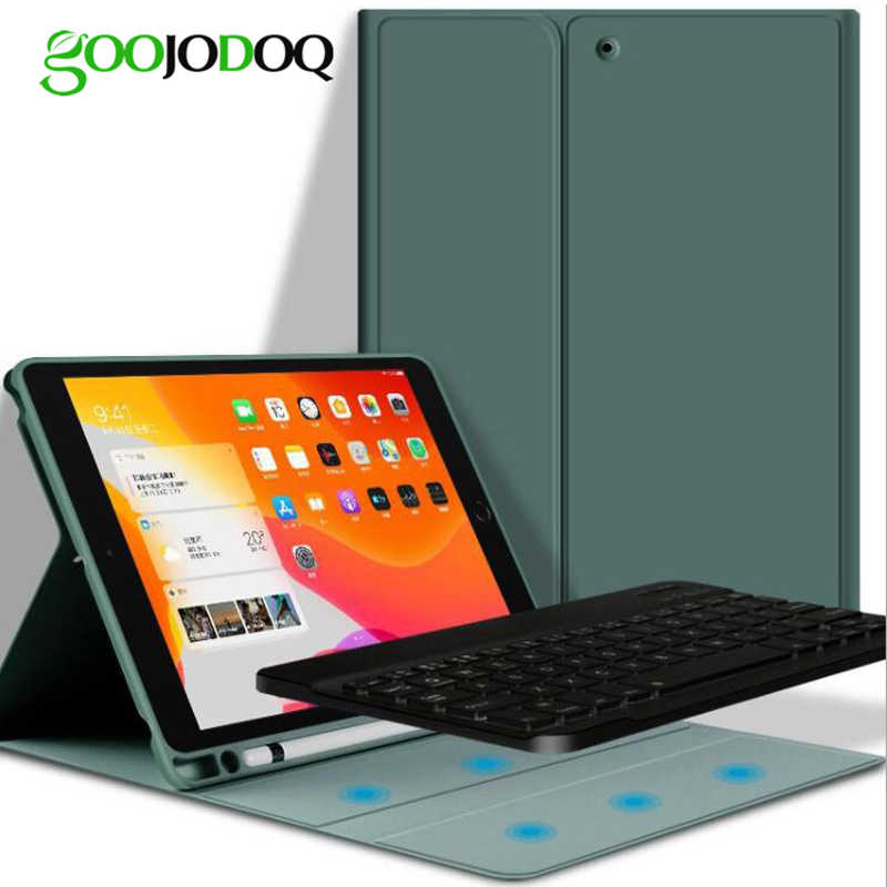 GOOJODOQ Bluetooth Tastatur Smart Fall Für iPad 2018 9.7/Air 2 1/iPad 10,2 2019/Pro 10,5 air 3 für iPad 7th Generation Fall