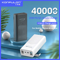 Power Bank 40000mah18W QC 3.0 20W PD Two-Way Quick Charge Bank Power12V Powerbank For Laptop/Notebook Power Bank For IPhone 12
