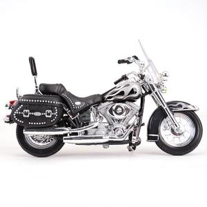Image 5 - Maisto 1:18 2002 FLSTC miras Softail klasik kayma döküm araçları koleksiyon hobiler motosiklet Model oyuncaklar