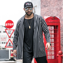 male Large size windbreaker man loose loose shirt cloak trend increase fat increase long coat new product plus fertilizer to increase windbreaker british fashion coat woven solid color trend loose women s long coat