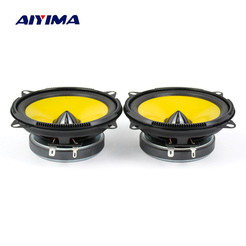 Car Speakers | AIYIMA 2Pcs 4 Inch Car Speakers 4Ohm 80W Universal Classic Car Horn Speakers DIY Vehicle Auto Audio Music Stereo Hifi Speakers
