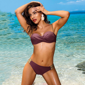 Small Bikini With Double Gold Side Straps 7