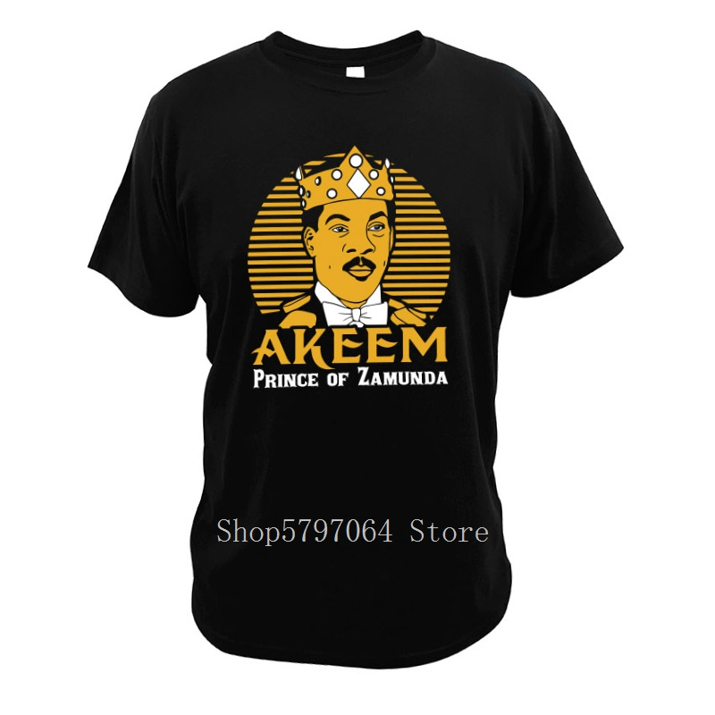 Eddie Murphy T Shirts Coming To America Akeem Joffer T Shirt Romantic Comedy Film Funny Cotton Clothing image