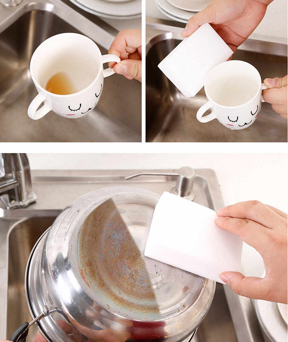 40/45 Stuks Magic Sponge Cleaner Multifunctionele Cleaning Melamine Schuimreiniger Keuken Spons 10*6*2 Cm
