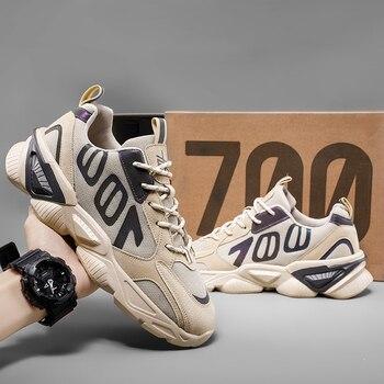 QGK-Zapatillas deportivas de malla transpirable para hombre, Tenis masculinos para correr, informales, para exteriores, Primavera/Verano, 700 1