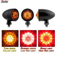 Lampka kontrolna uniwersalna 1 para Retro Bullet Diamond czarny motocykl kierunkowskaz LED migacz