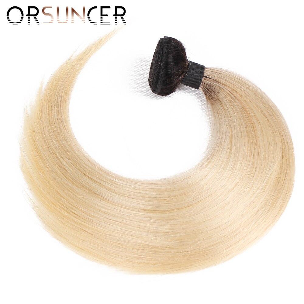 ORSUNCER Wholesale Blonde Bundles Clearance 613 Brazilian Straight Human Hair Bundles Weave Cheap 613 Human Hair Bundle Non-Remy