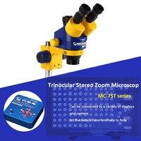 Mechanic 7X 45X Zoom HD Camera Large Wide angle Lifting Trinocular Stereo Microscope For iPhone Mobile Phone Maintenance