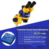 Mechanic 7X 45X Zoom HD Camera Large Wide angle Lifting Trinocular Stereo Microscope For iPhone Mobile Phone Maintenance