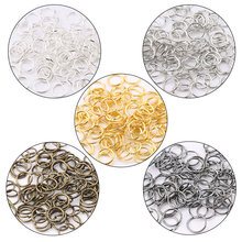 цены 30g/lot 4mm/5mm/6mm/7mm/8mm/10mm Zinc alloy open jump rings silver/gold Split rings Connectors for DIY Jewelry making 5colors