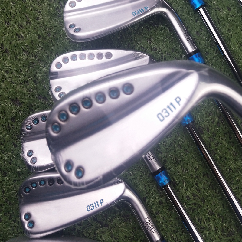 Silver 11P Gen2 Golf Irons Blue Paint 3-9WG 9piece Graphite And Steel Shaft R Or S With Rod Cover DHL Free Shipping