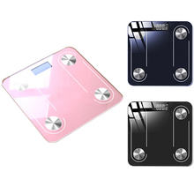 New Bluetooth Body Scale Smart Scale Glass LED Digital Floor Scale Bathroom Weight Scale Balance