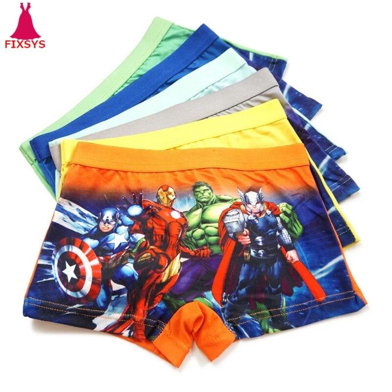 12pcs/lot Baby Boys Underwear Spiderman Kids The Avengers Boxer Shorts Underpants Sophia Girls Panties Anna Elsa Panty Briefs