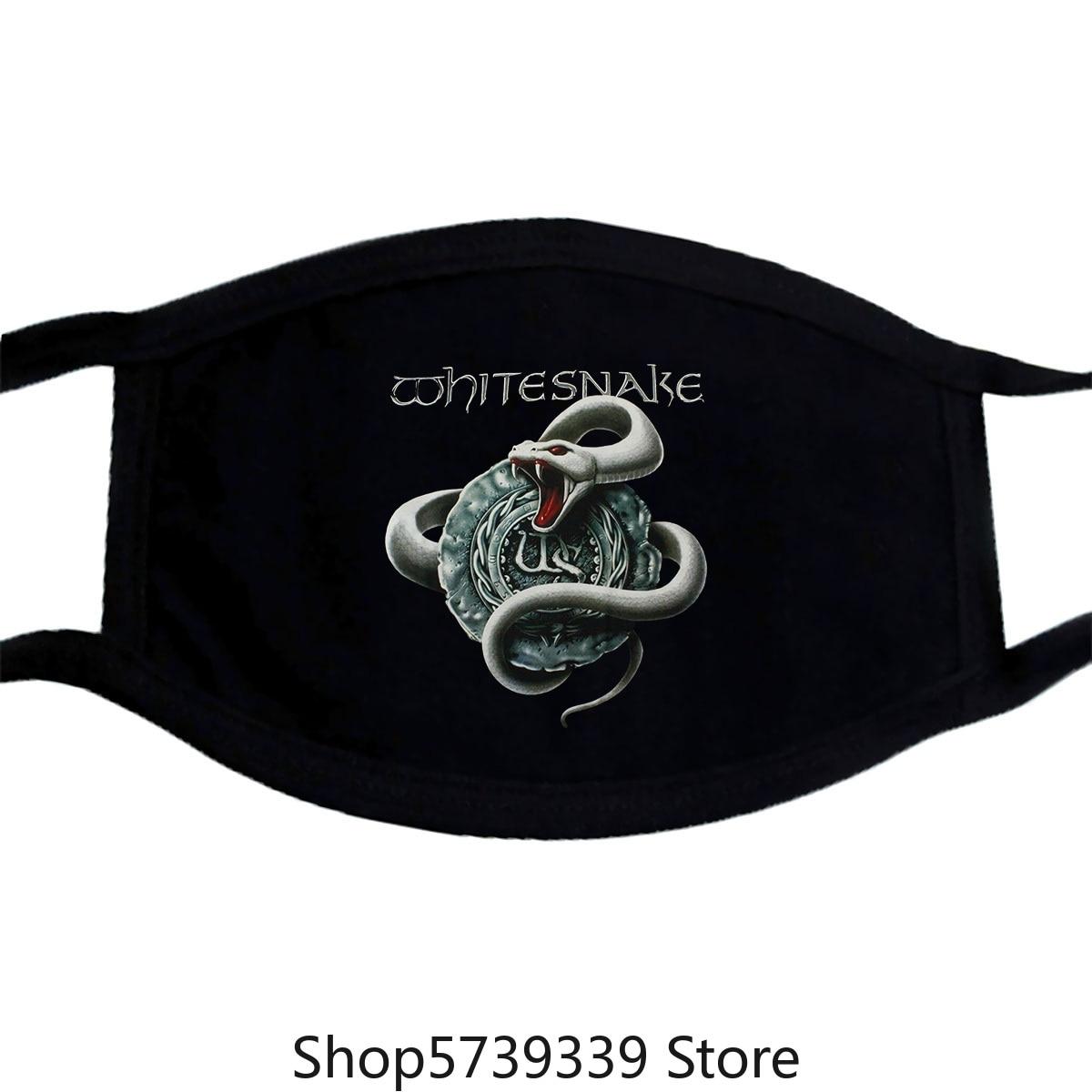 Whitesnake White Snake David Coverdale Hard Rock Deep Purple New Black Mask Washable Reusable Mask with