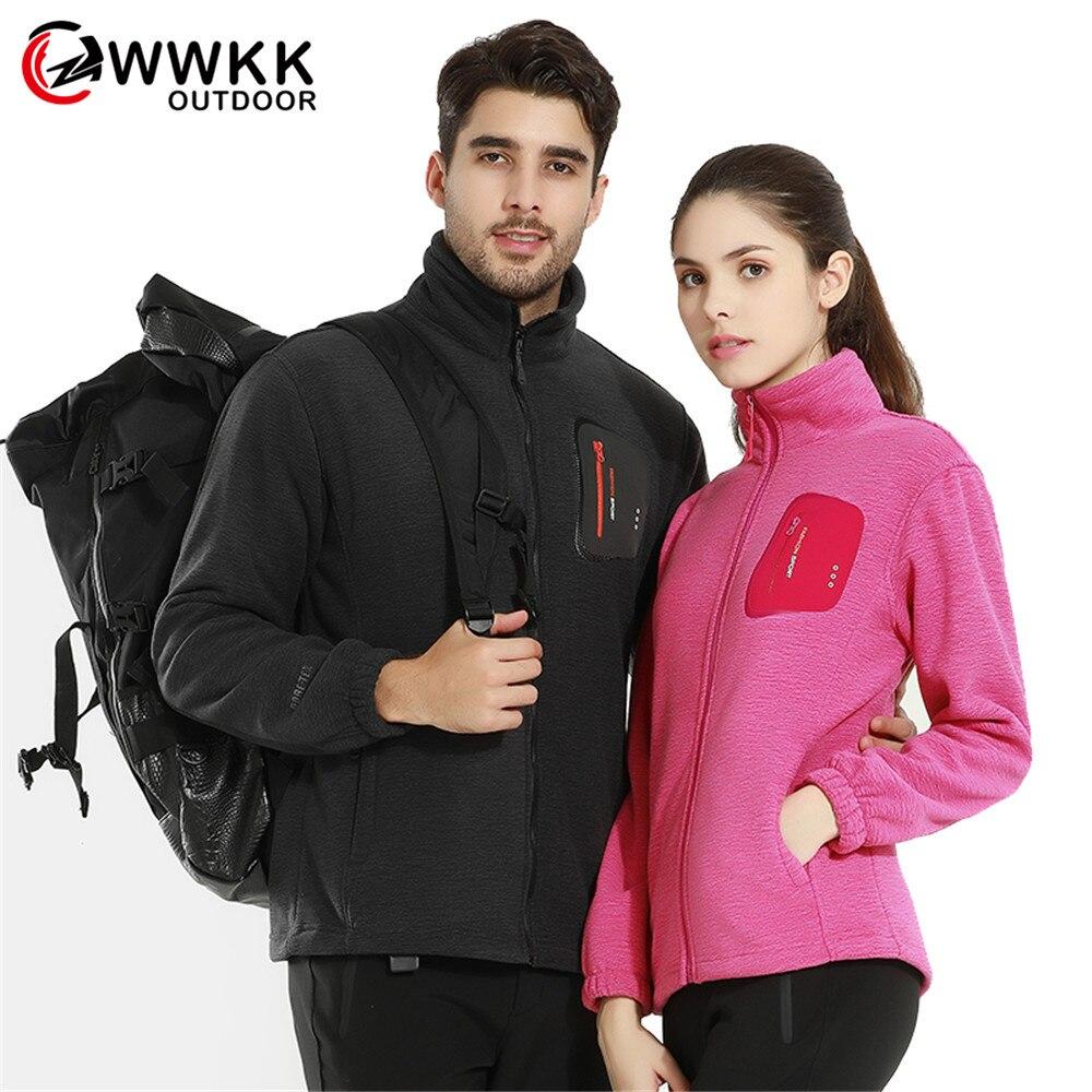 New Couple Fleece Hiking Wear Resistant Jackets Men Autumn Winter Windbreaker Softshell Thick Warm Jacket Mountaineering Camping