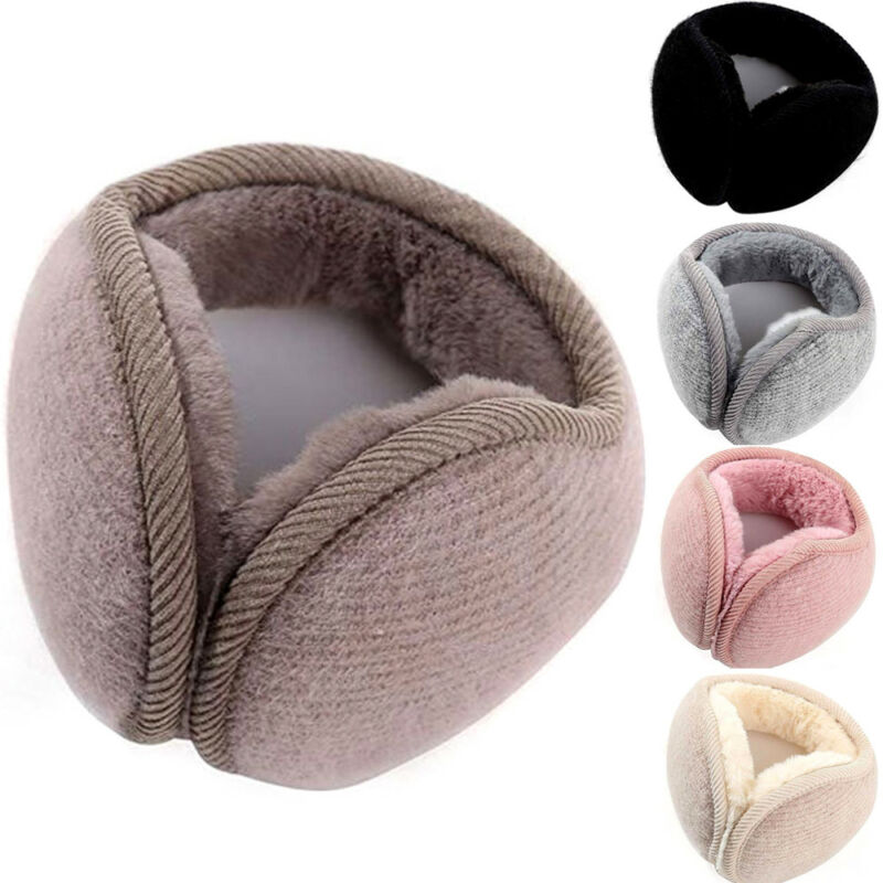 Hirigin Winter Unisex Men Women Soft Fleece Rabbit Plush Warm Earmuff Ear Muffs Cover Outdoor Activity Windproof Ski Wear